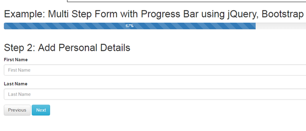 Multi Step Form with Progress Bar using jQuery, Bootstrap & PHP | WD