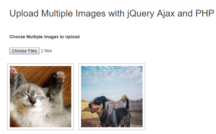 Upload Multiple Image with jQuery, PHP & MySQL | WD