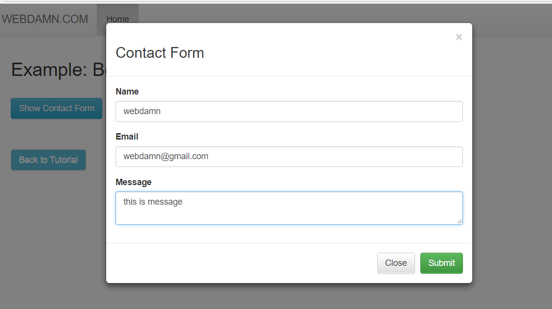 Bootstrap Modal Form Submit with jQuery & PHP | WD