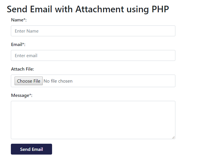 How to Send Email with Attachment in PHP | WD