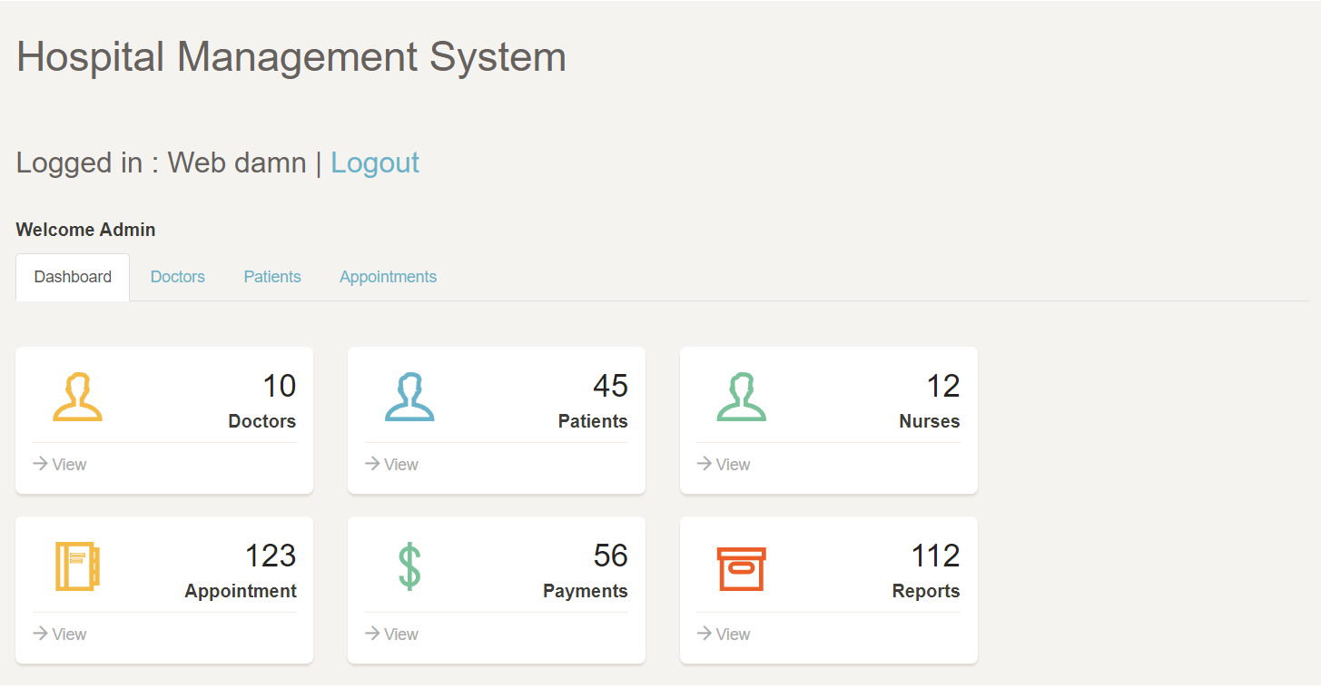 hospital management project in php and mysql